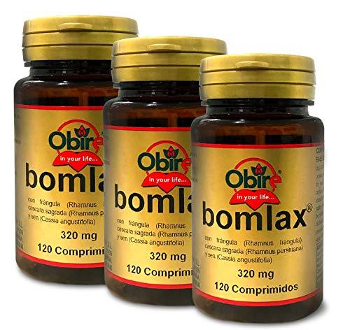 Obire | Bomlax® 120 Comprimidos con frángula, cáscara sagrada y sen. (Pack 3. unid.)