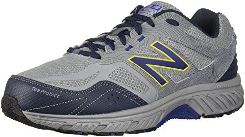 New Balance Men's 510 V4 Trail Running Shoe, Steel/Atlantic, 14 XW US