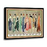 TORASS Canvas Wall Art Print Flappers Roaring Twenties Timeline 16 Ten Artwork for Home Decor 16' x 20'