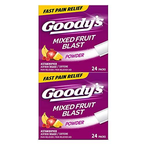 Goody's Extra Strength Headache Powders   Mixed Fruit Blast   24 Count   2 Pack