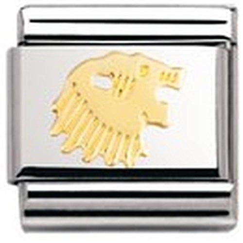 Preisvergleich Produktbild Nomination Composable Classic Sternzeichen Edelstahl und 18K-Gold (Lowe) 030104