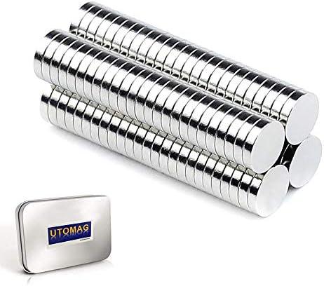 Refrigerator Magnets Premium Brushed Nickel Fridge Magnets DIY Small Multi Use Round Magnets product image