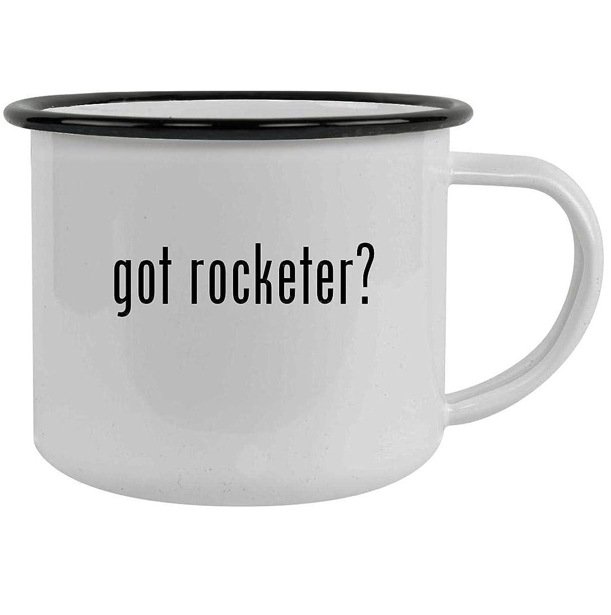 got rocketer? - 12oz Stainless Steel Camping Mug, Black