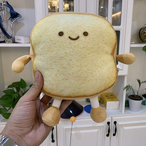 BONYOUN Toast Bread Pillow Funny Food Plush Toy, Small Cute Soft Toast Slice Bread Design Plush Stuffed Sofa Bedroom Sleep Pillow Decor Yellow S
