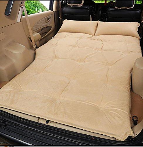 POTA RUIRUI Auto Outdoor-Reisen Bett Luftmatratze Matratze hinten SUV-Auto, beige Suede 5cm