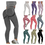 Keepwin Leggins Push Up Mujer Mallas de Deporte de Mujer Pantalones Largos Deportivas Mujeres Elásticos Pantalon de...