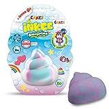 CRAZE INKEE Surprise Duftende Badebombe in spezieller Form mit Überraschung Muschel Rakete Pfote Poo Farbbad 22481, Badespaß für Kinder