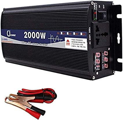 KPL potencia del inversor de onda sinusoidal pura DC 12V / 24V / 48V / 60V a 220V AC Power Inverter de alta eficiencia for teléfonos inteligentes de la tableta de la bomba de mama portátil Nebulizador