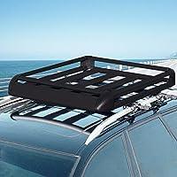 Moracle Portaequipajes de Coche 160X101CM Techo de Coche Portaequipajes Maletero Impermeable Portacontenedores SUV Portaequipajes para Autos Universal 100kg