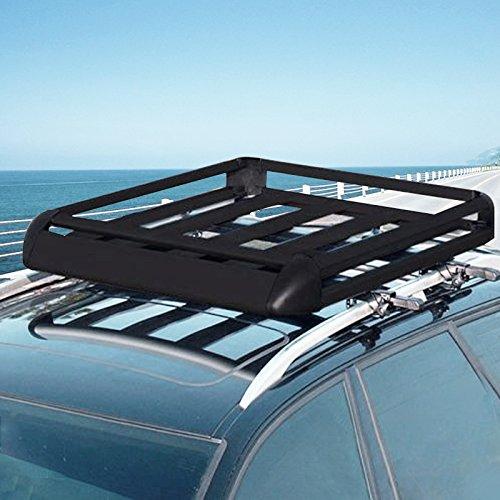 Moracle Portaequipajes de Coche 128.5X101CM Techo de Coche Portaequipajes Maletero Impermeable Portacontenedores SUV Portaequipajes para Autos Universal 100kg