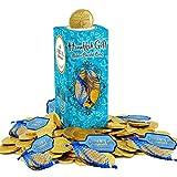 Hanukkah Chocolate Gelt Gold Coins In Mesh Bag, Belgian Milk Chocolate Coins, 1LB, Kosher Certified Gelt (24Mesh Bags, 5 Coins Per Bag)