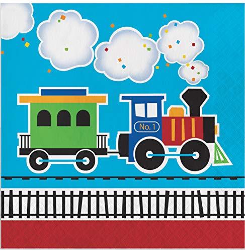 All Aboard Train Napkins, 48 ct