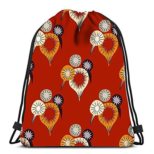 Mochila con cordón para carnaval, fuegos artificiales, viajes, mochila escolar