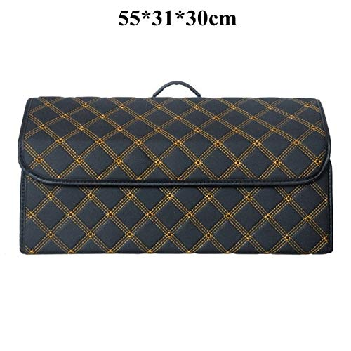 Buy Car Trunk Organizer Box Storage Bag Auto Trash Tool Bag PU Leather Folding Large Cargo Storage S...