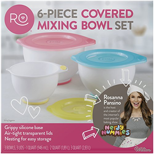 ROSANNA PANSINO by Wilton Mixing Bowl with Lids Set, 6-Piece
