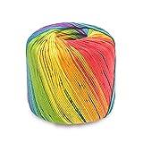 Vistoso Ovillos De Yarn Para Crochet Hilo De Algodon Crochet Ovillos De Algodon Para Ganchillo De Yarn Se Utilizan En Ropa De Punto, Sombreros, Calcetines, Bolsos, Juguetes, Etc. [133M, 41# Rainbow]