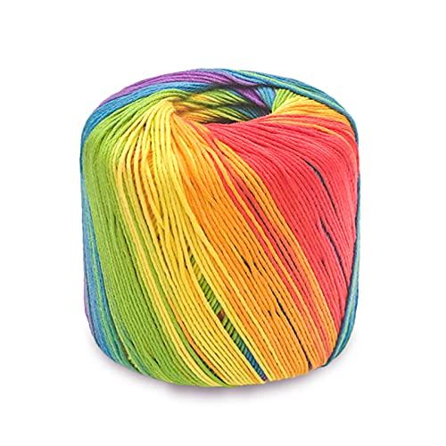 Laine A Tricoter Coton Pour Crochet Pelote De Laine Acrylique Laine Multicolore Epaisse Grosse Laine à La Main Utilisé En VêTements TisséS, Chapeaux, Sacs à Main, PoupéEs En Tissu [133M, 41# Rainbow]