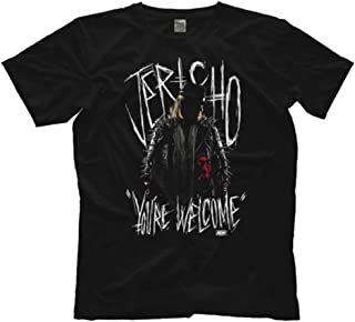 Licensed Chris Jericho You're Welcome AEW All Elite Wrestling Adult T-Shirt