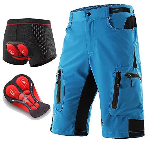 bester Test von mtb baggy shorts LXZH MTB Herren Radhose 5D Gel gepolsterte Buggy Radhose,…