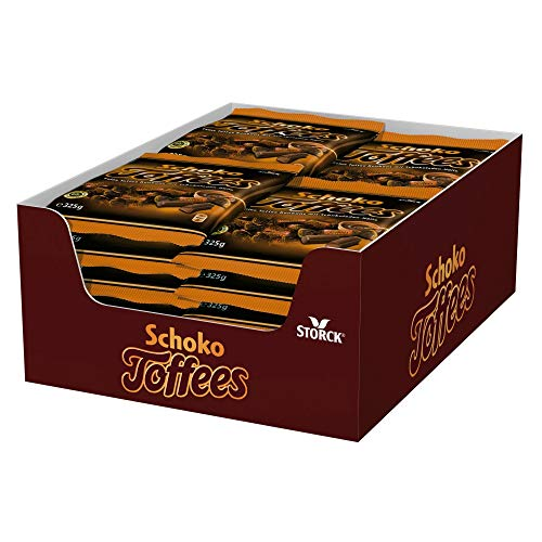 Schoko Toffees (5 x 325g) / Schokoladen-Toffees mit Überzug aus feinherber Schokolade