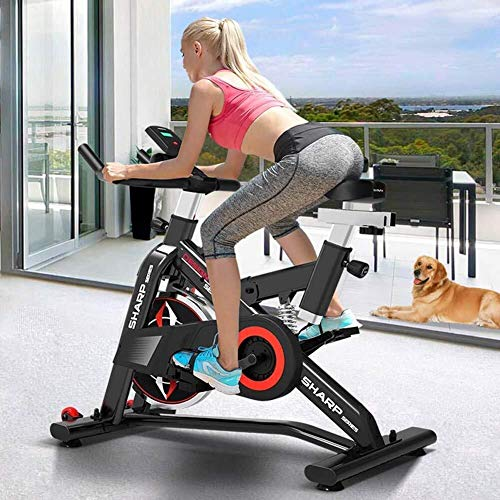 Best Prices! HYY-YY Indoor Exercise Bike Spinning Cycling Bike Stationary W/LCD Display Heart Rate A...