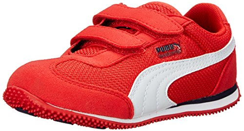 PUMA Whirlwind Mesh V Kids Sneaker (Infant/Toddler/Little Kid) , High Risk Red/White/Peacoat, 6 M US Toddler