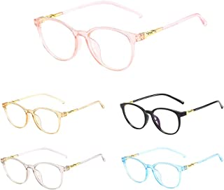 7acdd9ec33a Tuscom Unisex Non-Prescription Eyeglasses Stylish Clear Lens Eyewear  Vintage Fashion Round Frame Eyeglass for