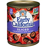 12-Pack Early California Sliced Ripe Black Olives 3.8 oz Cans