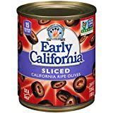 Early California 3.8 oz. Sliced Ripe Black Olives, 12-Cans