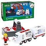 Brio World - 33510 - Train de Voyageur Radiocommandé - Train électrique - Fonction son et lumière - Pour circuit de train en bois - Jouet mixte à partir de 3 ans