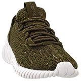 adidas Boys Tubular Doom Sock (Big Kid) Casual Sneakers, Green, 5
