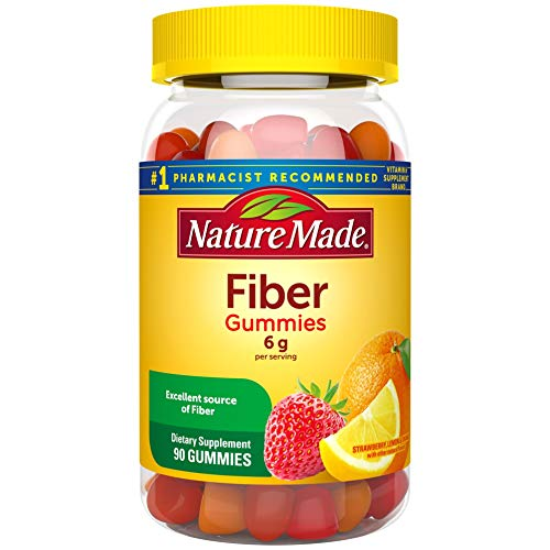 Nature Made Fiber 6 g Gummies, 90 Count for Digestive Health