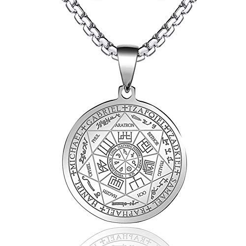 FLYUN Seals of The Seven Archangels Pendant Choker...