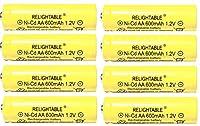 ソーラーライトAA ni-cd 600mAh電池パック(Pack of 8)