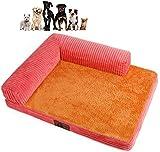 Jilisay Orthopädische-Hundebett, Plüsch weiche Hundematte Großes Hundebett Herausnehmbare waschbare Chaise Lounge Pet Sofa Kennel Corner Couch-e 55x45x7cm (22x18x3in) Color :...