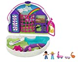 Polly Pocket Coffret Sac à Surprises Arc-en-ciel avec mini-figurines Polly et Shani, accessoires et autocollants, jouet enfant, édition 2020, GKJ65
