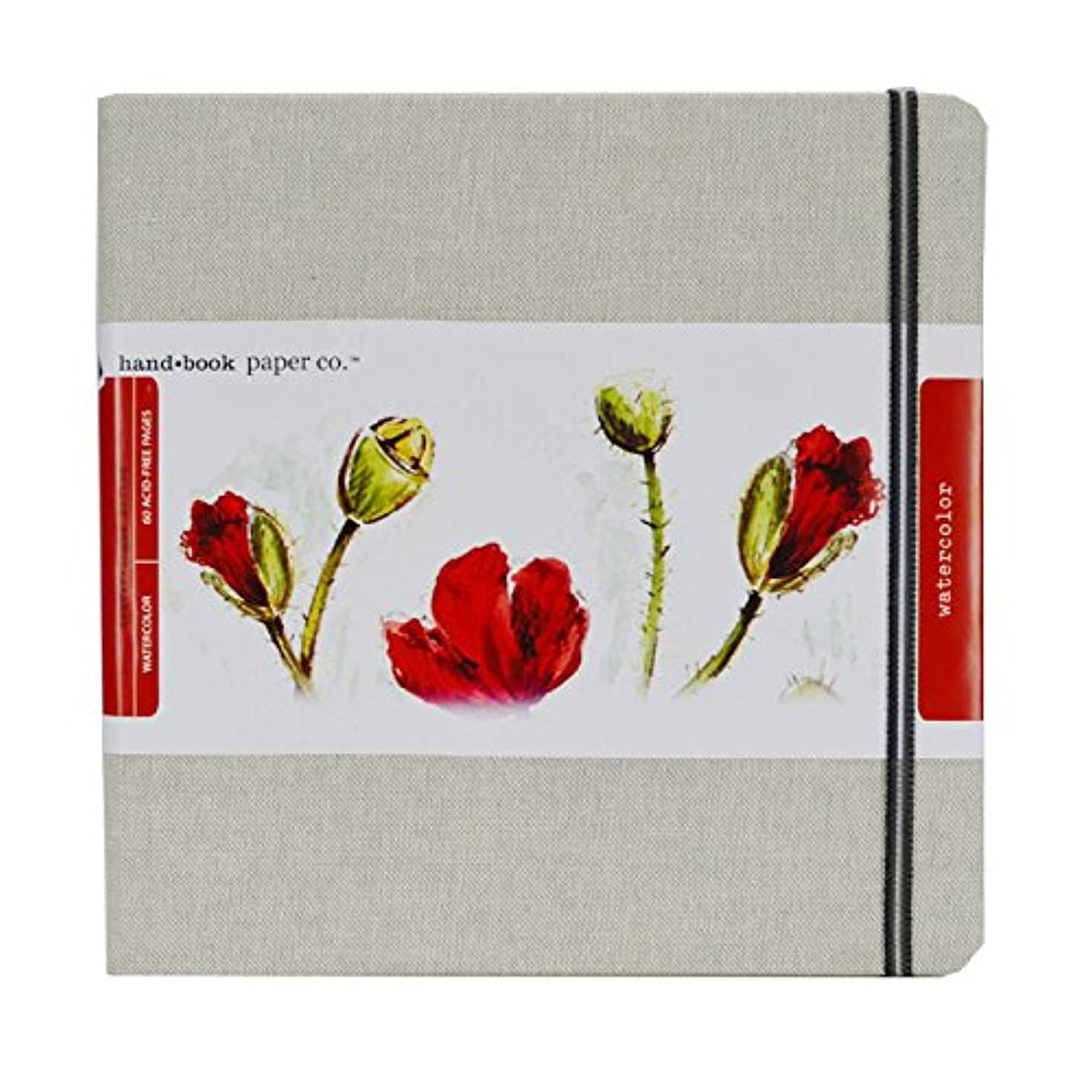 Speedball Hand Travelogue Watercolor Book, Square, Natural