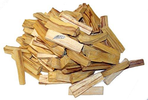 Madera Santo Palillos Palo Santo (Bursera graveolens) - Calidad Native Spirit - Grandes palos - aroma muy intenso! Paquetes al por mayor grande! (9x2x4 cm peso por palo de 15 ~ 25 gr) cosechada de forma sostenible de árboles caídos (del Perú) (4,000 Grams)