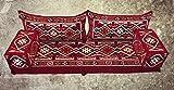 5 Teilige Set Sark Kösesi Orientalische Sitzecke,Sitzkissen Set Rot 190cm Komplett gefüllt