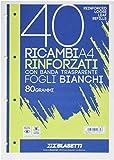 Blasetti 2339 - Ricambi A4 Rinforzati con banda laterale, fogli bianchi, 80grammi...