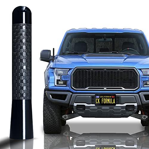 "CK FORMULA 3.1"" Black Truck Antenna - Carbon Fiber Screw Type Automotive Antenna Replacement, AM/FM Radio Compatibility, Aluminum and Internal Copper Coils, Car Wash Safe, Universal Fit, 1 Piece"