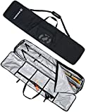 Winterial Rolling Double Ski Bag Travel Bag with 5 Storage Compartments and Reinforced Double Padding Perfect for Road Trips and Air Travel, Fits 2 Sets of Skis