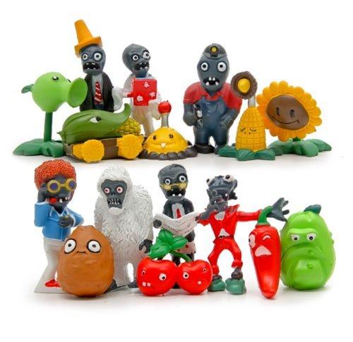Unbranded Plants vs Zombies 16pcs Action Figures Set Toy Kids Gift Cake Topper Car Decor