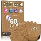 hojas de papel Kraft A4 Set - 260 g - 21 x 29,7 cm - Formato DIN Papel artesanal y...
