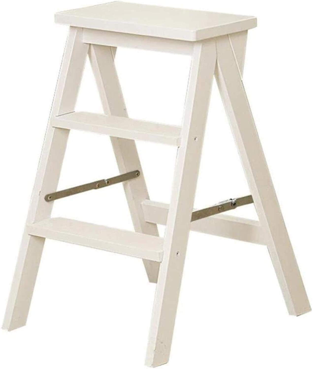 Step Stool Stair Ladder Ladder Folding Ladder Stool Stairs Multifunction Herringbone Ladder Ascend Pedal Save Space Beech Step Stool (color   B)