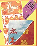 Fly the Funbirds of Aloha Airlines Hawaii: Vintage fun from the 70's when flying was an adventure! Wide Ruled lined 100 page blank notebook with Glossy cover