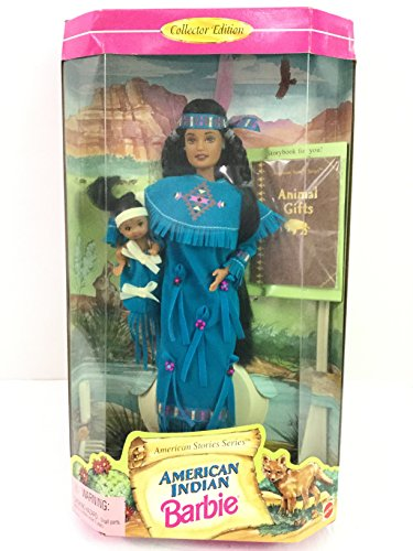 American Indian Barbie Doll 'American Stories Series' Collector Edition by Mattel (English Manual)