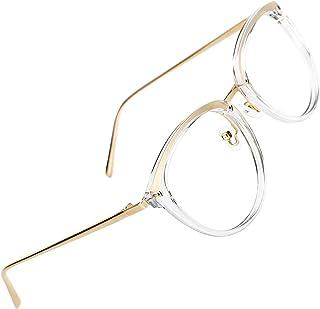 13dd0d0e95 TIJN Retro Redonda Gafas Anteojos Gafas con Filtro de luz Azul para  Bloquear el Dolor de