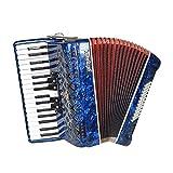 WYKDL Tecla de Piano acordeón 5 Sintonizadores 34 Teclas 60 Bass Principiantes acordeón Profesional for Adultos Que tocan el acordeón acordeón Instrumento portátil con Correa de la Mochila