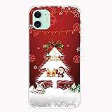 YaMiDe Funda para iPhone 11 Pro, con un [Protector de Pantalla], diseñado para Navidad, Estuche de...